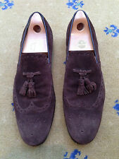 Gucci Mens Shoes Brown Suede Tassel Loafers UK 11 US 12 EU 45 Made in Italy