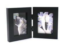 ACEO picture frame for 2.5 x 3.5 art - two openings - HINGED frame - BLACK