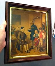 "Antique 1880's Victorian Lithograph Children NICE Walnut Frame 8.5"" x 10"" Inner"