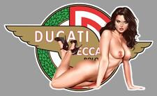 DUCATI PIN UP  right Sticker droite