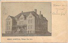Mercy Hospital in Webster City IA Postcard 1906