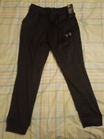 Men's Under Armour Cold Gear Loose Tapered Sweatpants New Black Size L