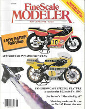 Fine Scale Modeler May 84, FW 190D, Me 163 Komet, DC-8 Superdetail Motorcycles