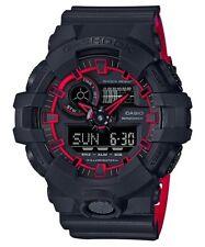 Casio G-Shock Dual Tone Black/Red Analogue/Digital Mens Watch GA700SE-1A4