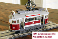LEGO City Tram BUILDING INSTRUCTIONS ONLY!! NO PARTS!! 10182 10185 10190