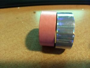 2X WASHI CRAFT TAPE FOR SCRAPBOOKING NEW 3 METER X 1.5 CM (CT01)