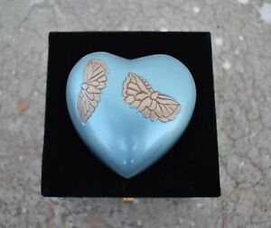 Heart of Hearts : Cremation Urn for Human Ashes | Small Memorial Urn | Sky Blue