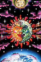 UV BACKDROP Blacklight Fluorescent Glow Psychedelic Art Banner Tapestry Psy Deco
