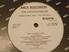 "THE UNTOUCHABLES Free Yourself / I Spy / Piec  12"" promo 80s soul ska party band"
