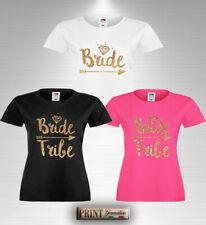 T-Shirt Stampata Addio al Nubilato BRIDE e BRIDE TRIBE Maglietta Sposa Amiche