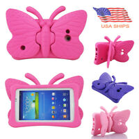 "Samsung Galaxy Tab 3 E Lite 7.0"" Kids Shock Proof Butterfly EVA Stand Case Cover"