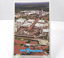 Disney c1980 Vintage WDW Postcard Magic Kingdom Aerial View (Vertical)
