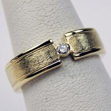 5d6f1c665107 Florentined 6 mm diamante solitario anillo de banda de 18 Kt Oro Amarillo  Talla 7 3 4  9115