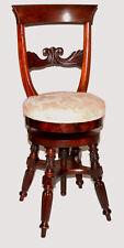 "Piano stool, Federal, Neoclassical NYC, D Phyfe, mahogany, swivel, 35""t, c1820,"
