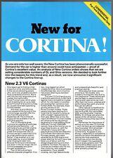Ford Cortina 1600 Ghia & 2.3 Mk4 1977 UK Market Salesmans Single Sheet Brochure