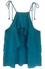 NEW! Ella Moss Teal Green Crepe Top, Size: M, Orig. $128.00