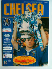 MINT 1997/98 Chelsea  v Manchester United FA Cup 3rd Rd