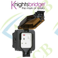 Knightsbridge IP66 13A 1G DP Switched Socket with Neon Outdoor Weatherproof