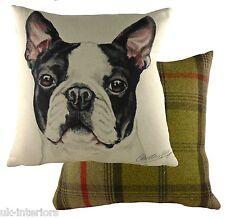 "17"" Boston Terrier Dog Cushion Evans Lichfield DPA274 43cm Waggydogz"