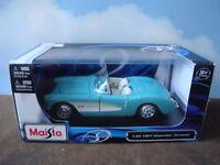 1957 Chevrolet Corvette Die Cast Car- 1/24 scale by Maisto #31275 NIB