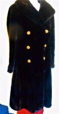 Black Fur Coat Ladies Onyx Seal Dyed Mink petite small 1960 Princess Vintage