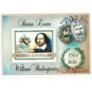 VINTAGE CLASSICS - Sierra Leone 1053 - William Shakespeare - Souvenir Sheet -MNH