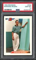 1992 Bowman #302 MARIANO RIVERA RC HOF New York Yankees PSA 10 Gem Mint