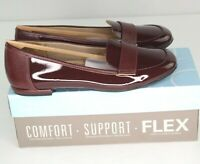 Life Stride Beverly Loafers Womens Sz 9 M Wine Red Patent Slip On Shoes