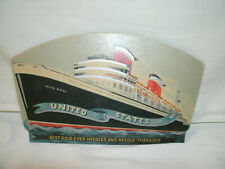 Vintage Advertising---United States Ship--Sewing Needle Books [2] Incomplete