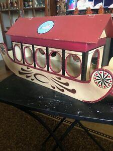 Vintage wooden Noah's ark with wooden animals