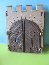 PLaymobil * puerta grande puerta marrón + pared al viejo castillo 3666 3667 de 3446