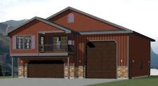 44x48 Apartment with 2-Car 1-RV Garage - PDF FloorPlan - 1,528 sqft - Model 5I
