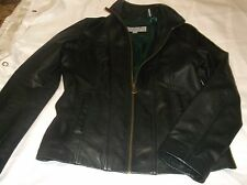 Women's Maroc New York Signature black soft leather jacket, front pockets,  SM