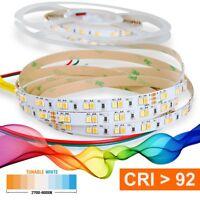 LED Strip 2835 TUNABLE WHITE (2700-6000K) CRI 92 72W 5 Meter 24V IP20