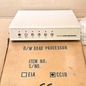 CCTV Quad Processor - CCIR 4 BNC Camera Input - Boxed