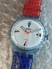 🔴 Swatch - 4 FLAGS GS 100 - FRANCE -  Automatic Conversion - ○ 36 mm