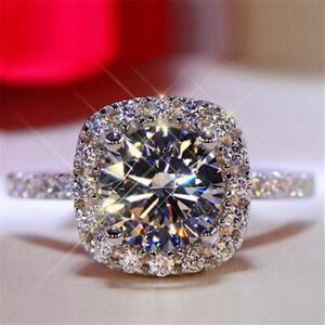 Elegant 14k White Gold 1ct Round Cut Bridal Wedding Rings Moissanite Jewellery 6