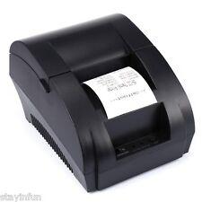 Portable Mini 58mm POS Receipt Thermal Printer with USB Port Black 12V EU PLUG