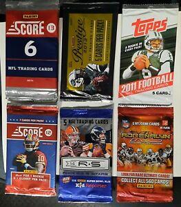 2010-14  8 Panini/Topps/Score NFL football packs rookies stars unopened