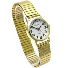 Ravel Ladies Super-Clear Quartz Watch Expanding Bracelet Gold #04 R0208.01.2s