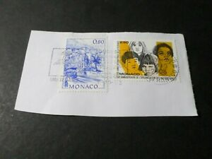 Monaco Lotto 2 Francobolli Dont La 2006, ONU Visi Bambini, VF Usato Stamp