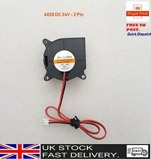 4020 DC 24V Silent Radial Turbo Blower Fan Cooling for 3D Printer Parts 2PIN UK