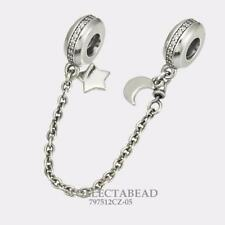 Authentic Pandora Silver Personal Galaxy Safety Chain Bead 797512CZ-05