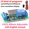 4 digit Multifunction DC 5 12 24V Cycle Delay Timer Relay on/off Switch Module