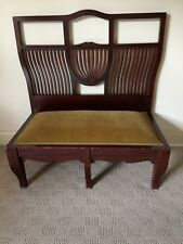 ANTIQUE VICTORIAN TIMBER LOW HALL/BEDROOM BENCH STYLE SEAT.