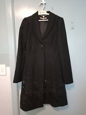 Review Black Coat with beading in size 8
