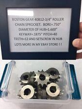"BOSTON GEAR STEEL SPROCKET 40B12- 3/4"" BORE CLOCK TELESCOPE LATHE HOBBY"