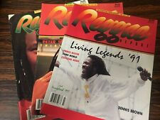 Reggae Report Magazines (3)x LOT! 1991