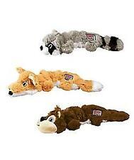 KONG Scrunch Knots Dog Toy Internal Squeaker Realistic Pelt Toys Fox