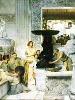 LAWRENCE ALMA TADEMA SCULPTURE GALLERY OLD MASTER ART PAINTING PRINT 1873OMB